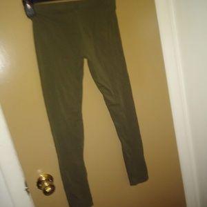 ambiance army green leggings